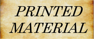 Printed Material Button